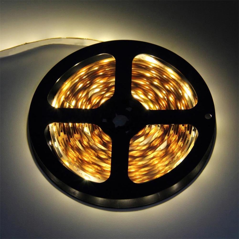 5m ed luz de tira pegajosa smd3528 não-impermeável 300 leds luz flexível 12 v cuttable decoração transporte da gota