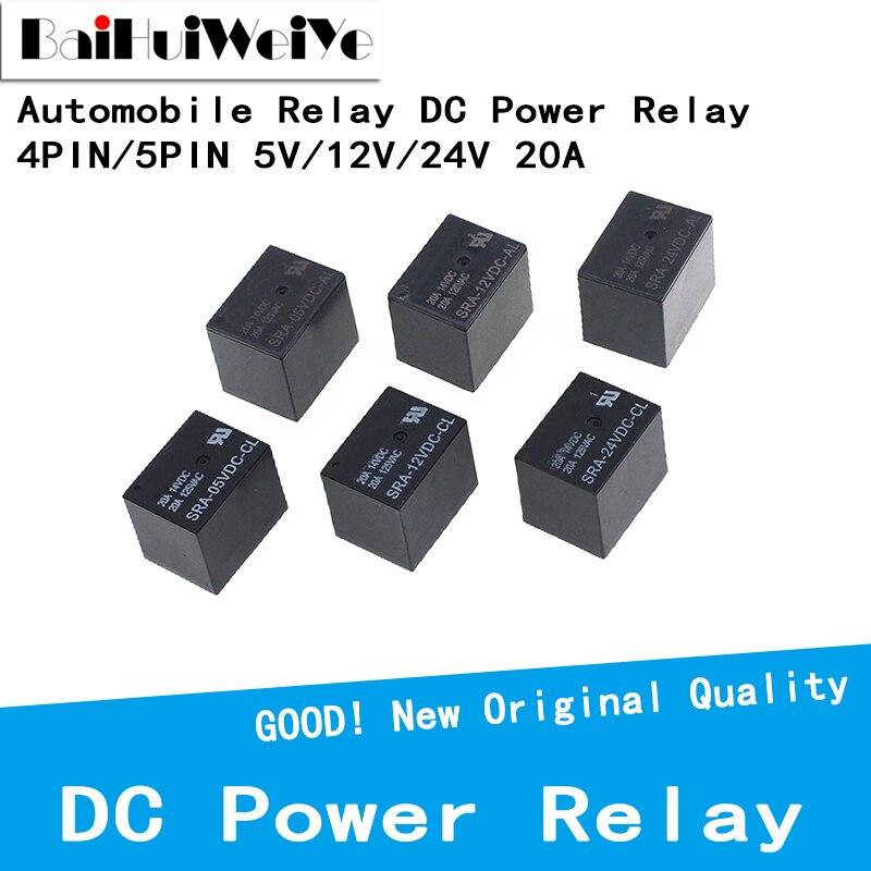 5 шт. автомобильное реле постоянного тока Мощность реле T74 4Pin 5Pin SRA-05VDC-AL SRA-12VDC-AL SRA-24VDC-AL SRA-05VDC-CL SRA-12VDC-CL SRA-24VDC-CL