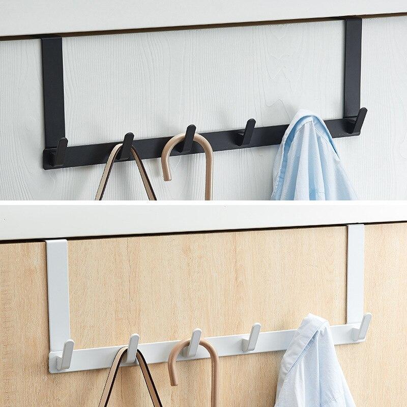 باب مشغول حديد شماعات بدون ثقب على غرفة النوم لا أثر على الجزء الخلفي من الباب تخزين شماعات ملابس خطاف تعليق المعاطف