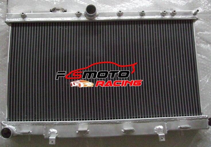 Novedad, radiador entero de aluminio Subaru Impreza WRX STI GDB GDA Manual 03 04 05 06 2002-2007 de 52mm