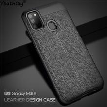 Чехол для Samsung Galaxy M30s, мягкий силиконовый роскошный кожаный чехол для Samsung Galaxy M31 M21, чехол для Samsung M30s A51 A11, чехол