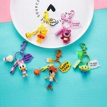 2020 Disney Mickey Mouse jouet histoire Woody Buzz Lightyear point Action Figure porte-clés Figure poupée jouets hommes femmes porte-clés cadeaux