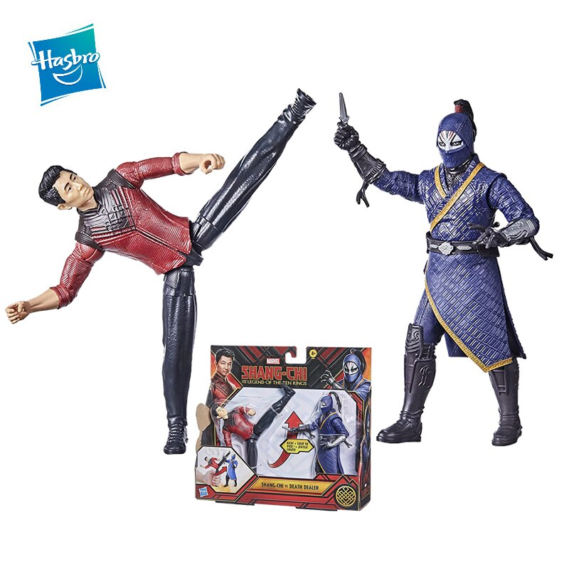 Hasbro Marvel Movie Anime Figures Shang Chi Ninja 4 Inch Toy Figures The Joints Are Movable Collectable Can Send Friends