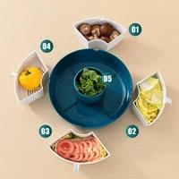 hot pot vegetable basket plastic basin fruit plate multifunctional rotating platter