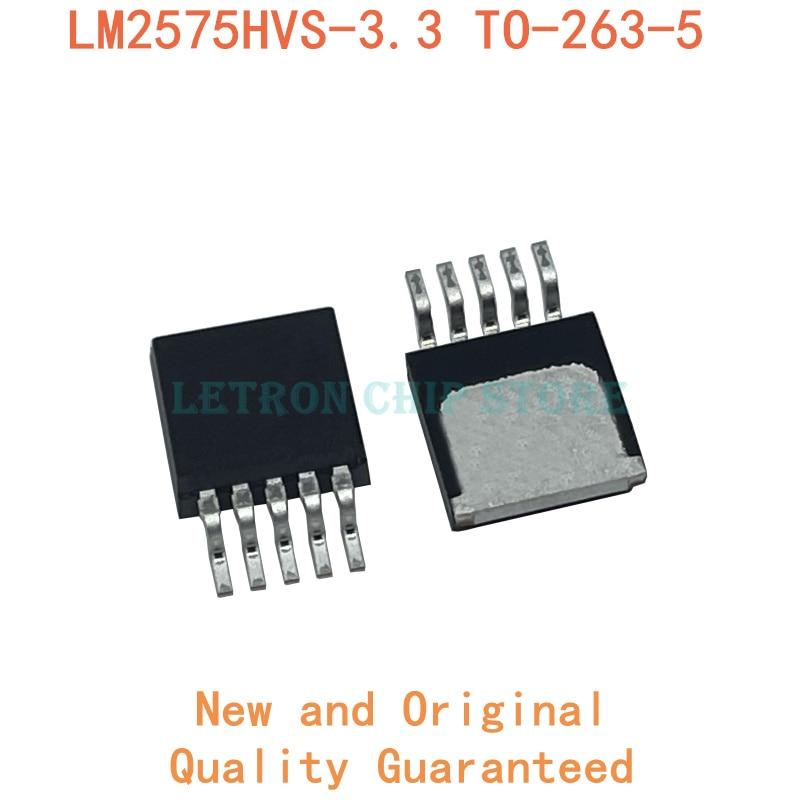 10 pces LM2575HVS-3.3 a-263-5 lm2575hvs 3.3v TO263-5 to263 a-263 smd novo e original chipset ic