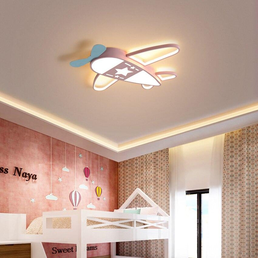 Светодиодный мультяшный потолочный светильник для детской комнаты с самолетом, модный светильник для спальни, светодиодный светильник ильник для мальчиков и девочек 40 Вт 52 Вт