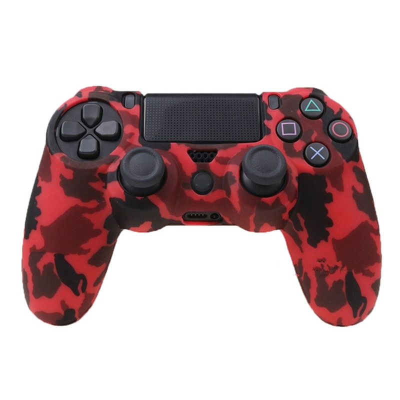 For PS4 Slim Pro Controller Case Video Game Controller Accessory Soft Silicone Flexible Rubber Shell