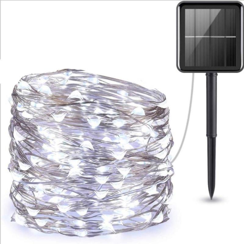 Solar String Fairy Lights 10m 100LED / 5M 50 LED Waterproof Outdoor Garland Solar Power Lamp Christmas For Garden Decoration