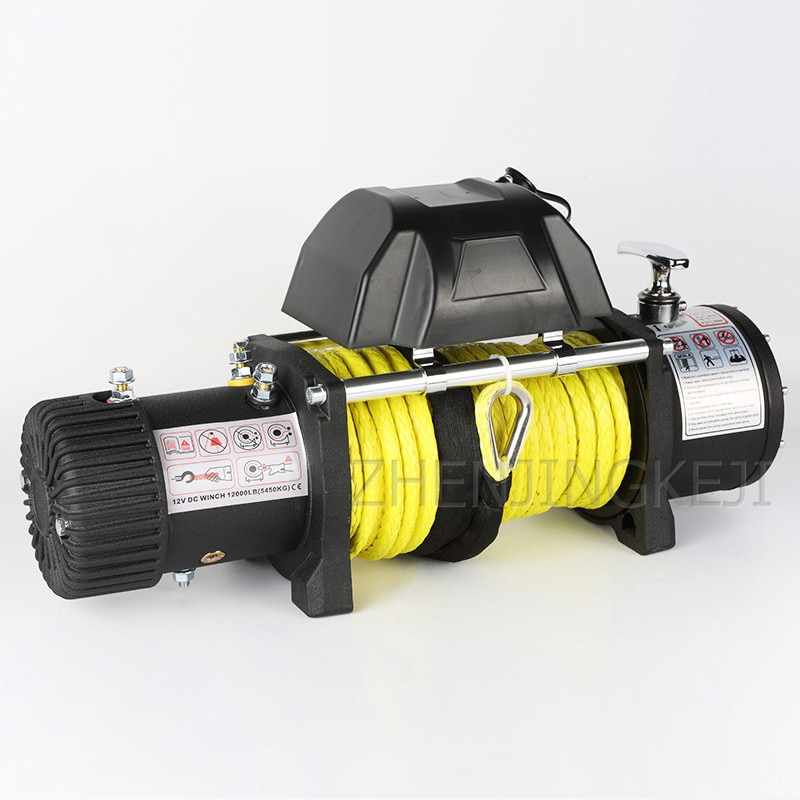 12V/24V Electric Winch Small Crane Off-road Vehicle Winch Crane Mud Motor Anchorage Rescue Beach Traction Outdoor Lifting Tools