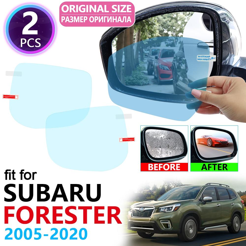 for Subaru Forester SG SH SJ SK 2005~2020 Full Cover Rearview Mirror Rainproof Anti Fog Film Accessories 2008 2012 2013 2018