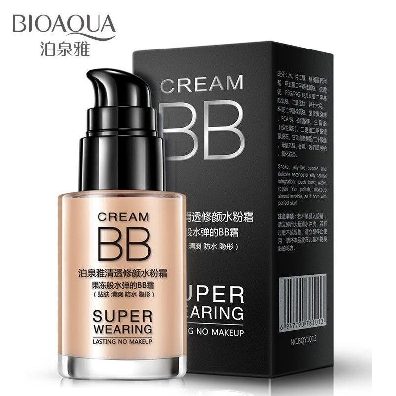 BIOAQUA blanqueamiento líquido base cuidado de la piel de larga duración hidratante aceite Control cara corrector moda maquillaje Facial desnudo
