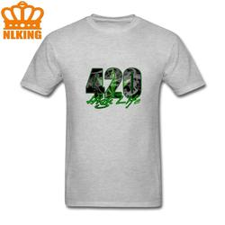 Camisas masculinas 420 alta vida roupas de algodão de manga curta fabr 420 alta vida t camisa para adolescente