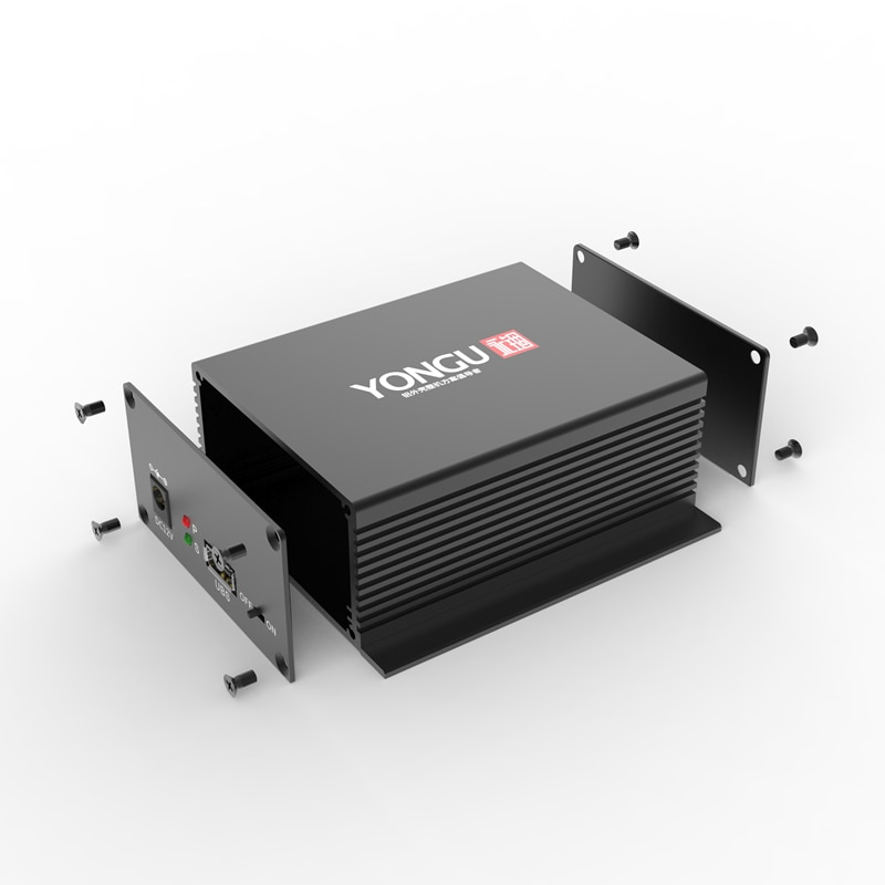 J26 97W-40,5 H Angepasst Eloxiert Extrudiert Sandstrahlen Aluminium Industrie PCB Gehäuse mit Flansch