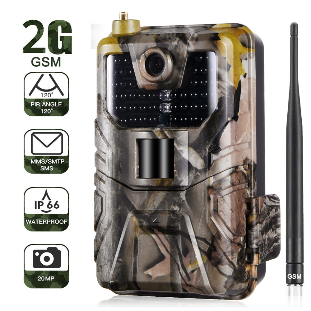 HC900 2G/4G Hunting Trail Camera SMTP MMS SMS Email Wireless Camera 20MP 1080P Wildlife Camera Photo Traps 0.3s Trigger Scout