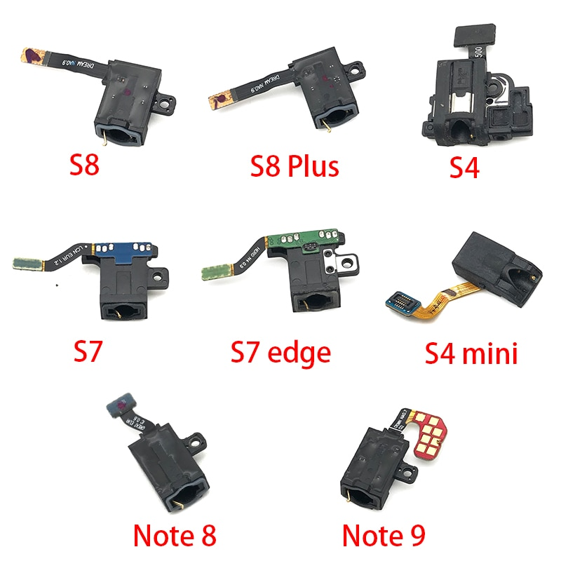(5piece)For Samsung Galaxy S10 S10e S9 S8 Plus S7 S7 edge S4 Mini Note 8 9 Earphone Headphone Audio Jack Flex Cable Replacement