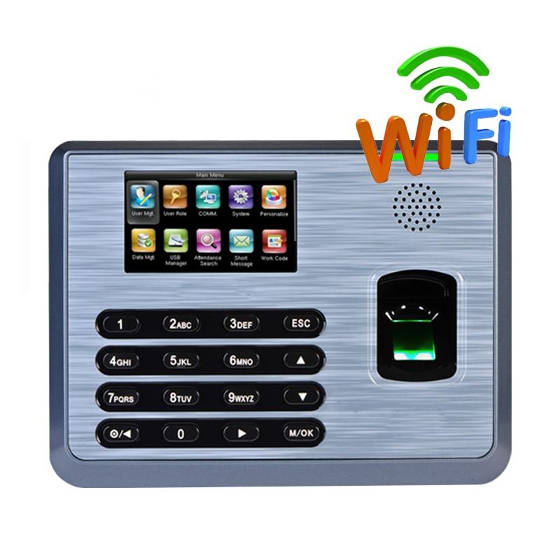 ZK TX628 آلة الحضور الوقت tcp/ip خادم الويب بصمة وقت تسجيل اختياري واي فاي