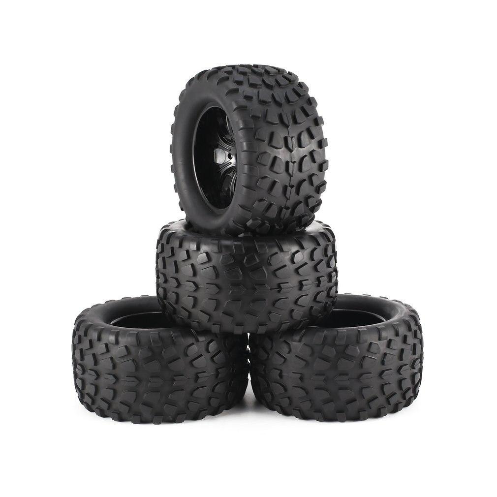 4Pcs 130mm 7 Contour Dump Fetal Flower Off-road Wheel Rim and Tires for 1/10 Monster Truck Racing RC Car Accessories enlarge