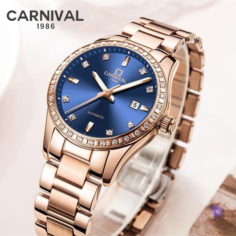 Fashion Mechanical Women Watches Simple Romantic Rose Gold Watch Women's Wrist Watch Ladies watch relogio feminino reloj muje enlarge