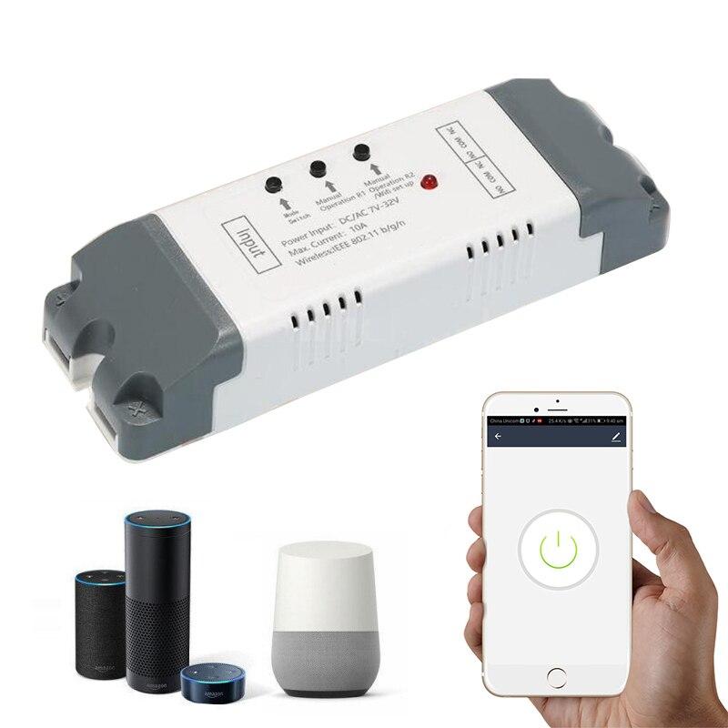 Controlador inteligente para hogar Alexa, Wifi y enchufe con control remoto inalámbrico, módulo de domótica con relé de domótica