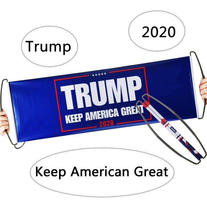 Pegatina de bandera de parachoques de la bandera de Trump de la elección del Presidente de 2020 para apoyar