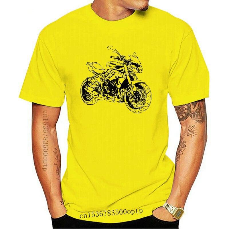 New HOT deals 2021 2021 Summer Men Hip Hop Tee Shirt T-Shirt Street Motorcycle Street Triple 675 Slim T-shirt