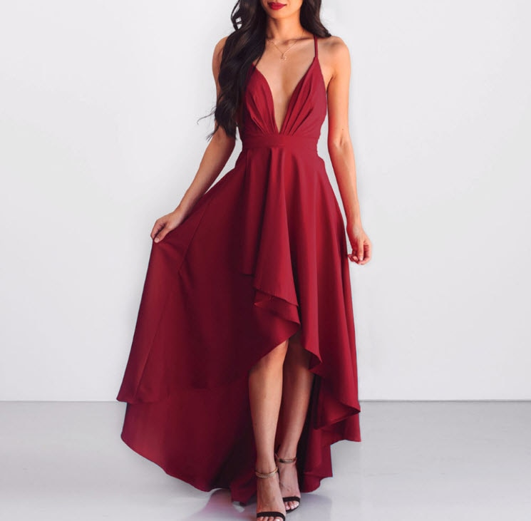 Fashionable Summer Women Dress Party Long Formal Occasion Wear Sexy Skirt Evening Hot Ladies Big S