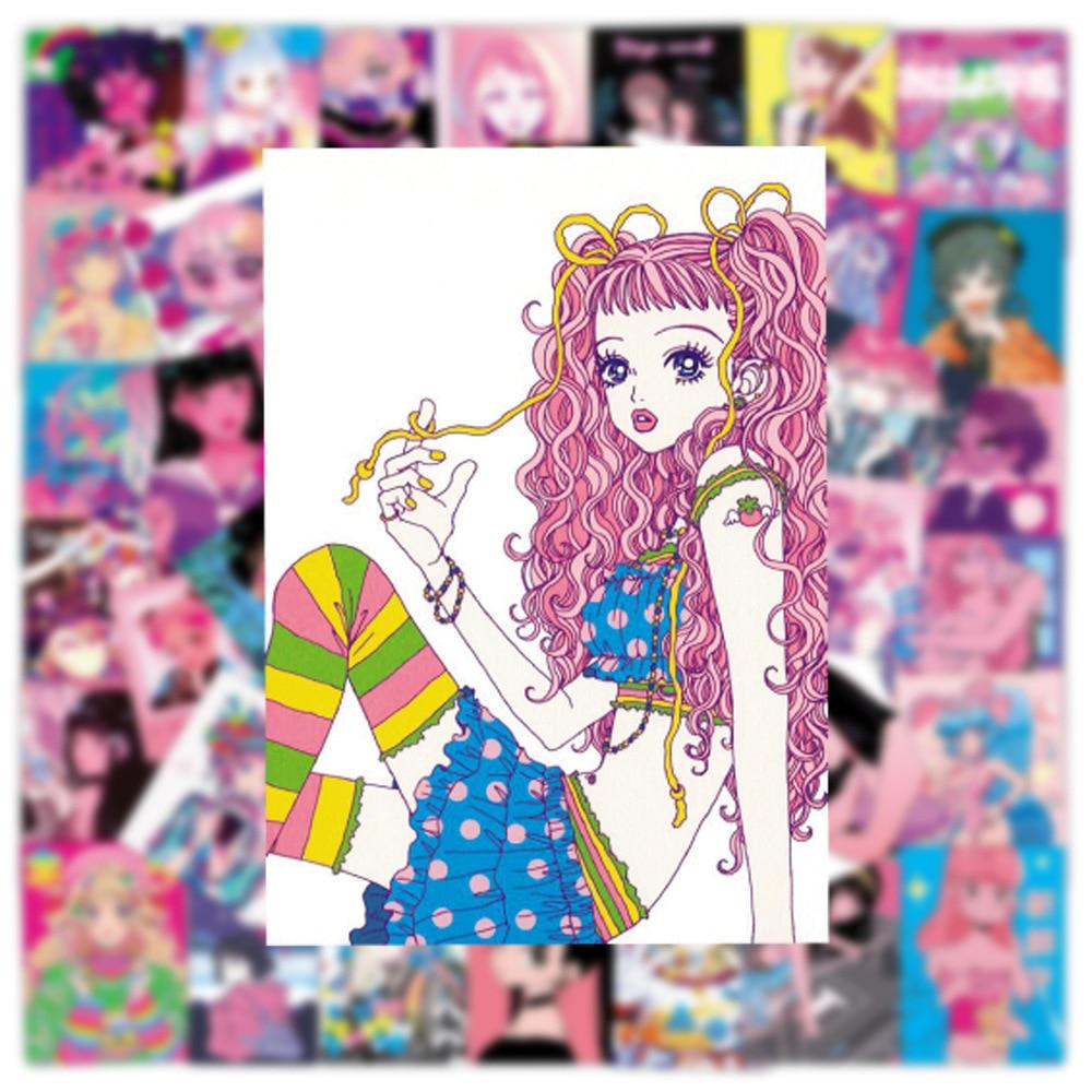 pegatinas-de-belleza-de-corazon-para-con-chicas-de-anime-ilustracion-de-bienestar-otaku-para-telefono-portatil-funda-de-equipaje-pegatina-de-graffiti-10-50-uds