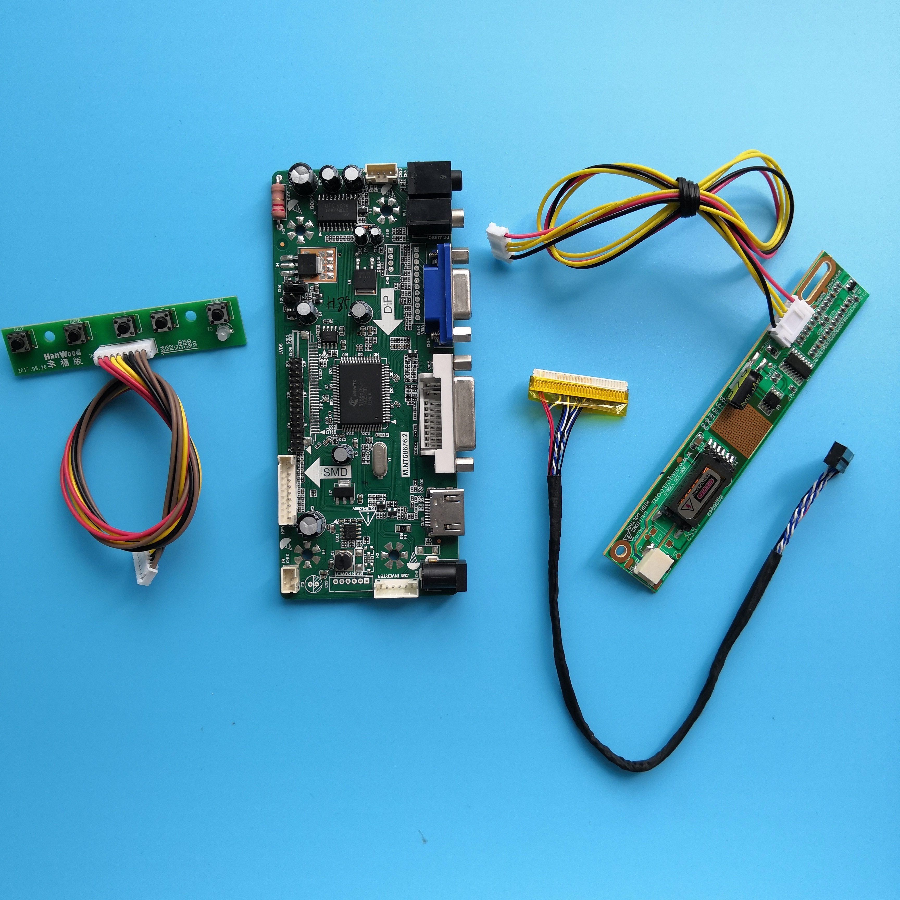 "Kit para Panel de LP154WX5-TLC2, placa controladora de pantalla de señal VGA, pantalla LVDS, 30 Pines, 1 lámpara, 15,4 ""DVI HDMI 1280X800"