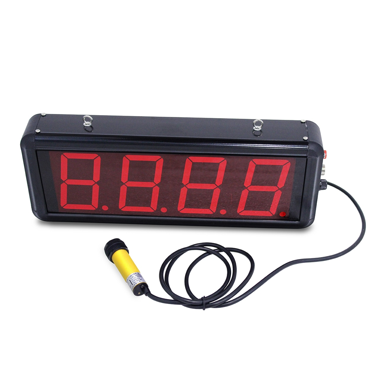 عداد الحث التلقائي مع شاشة LED كبيرة ، جهاز نقطة تحميل حزام ناقل بالأشعة تحت الحمراء ، شاشة رقمية صناعية