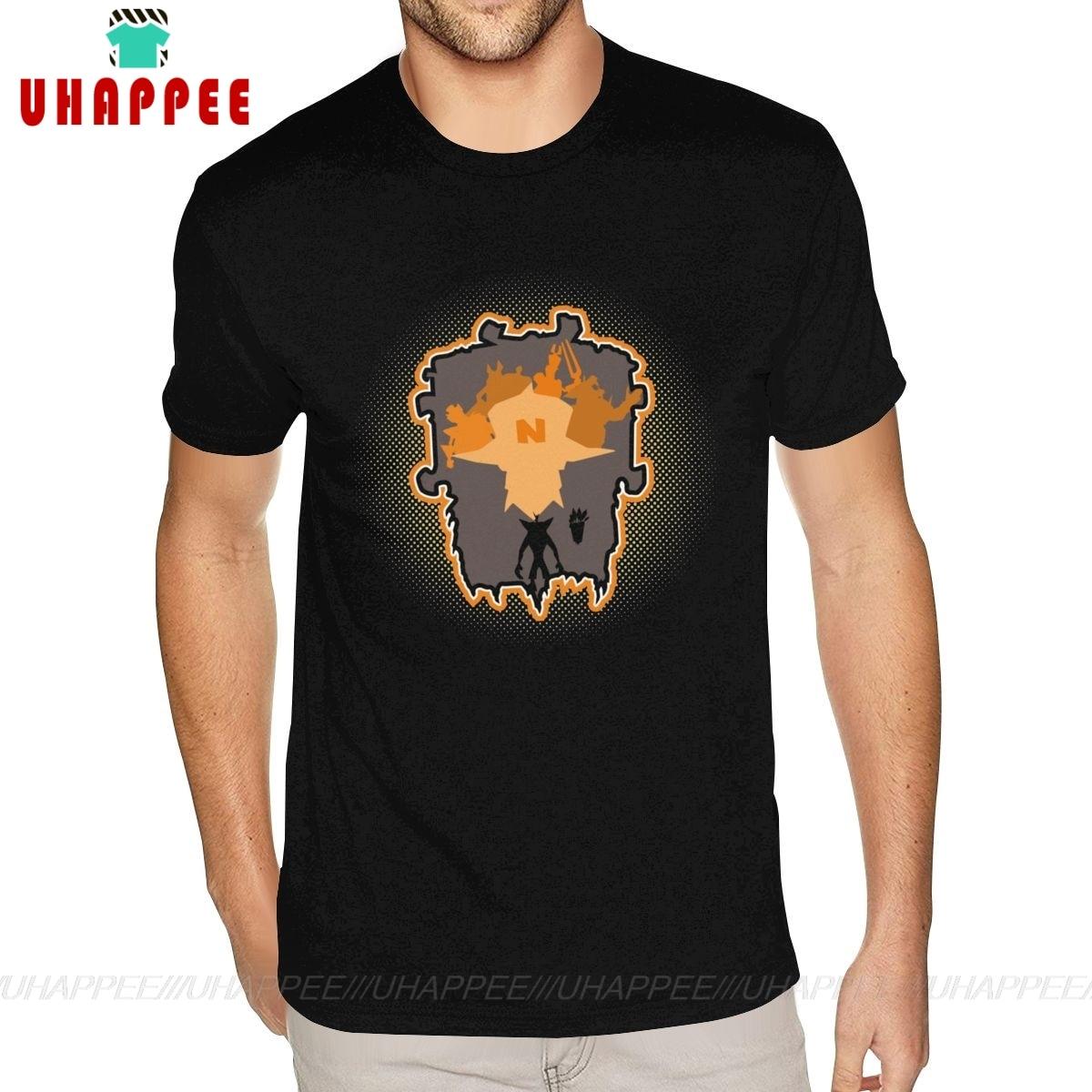 Grey Crash Bandicoot camisa para hombre manga corta algodón Premium negro O cuello camiseta