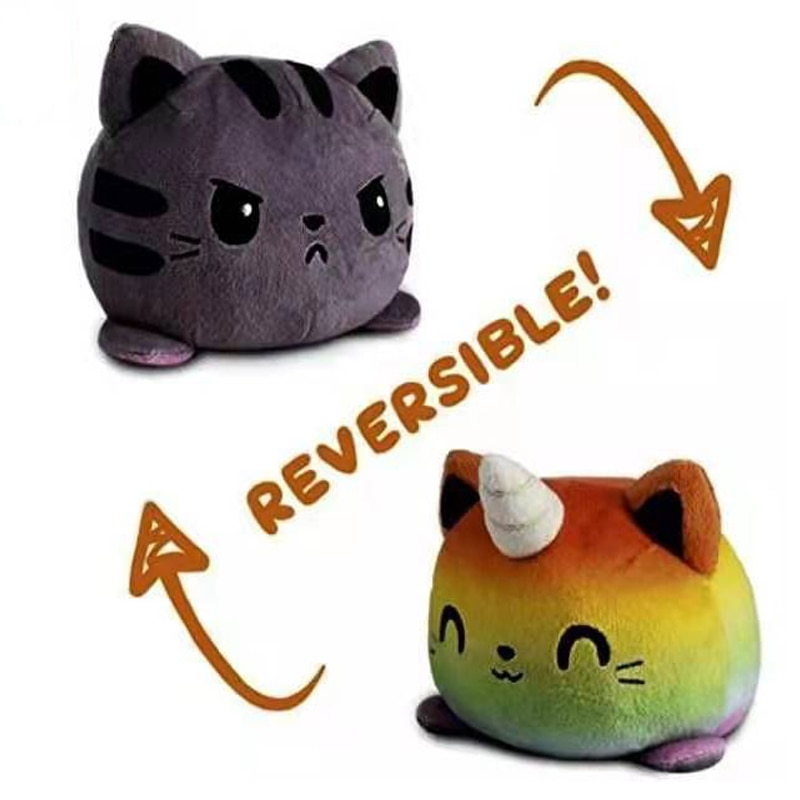 aliexpress.com - Flip Plush Toy Stuffed Angry Flip Happy Toys Soft Cute Double-Sided Colorful Animal Doll Popular Children Gifts