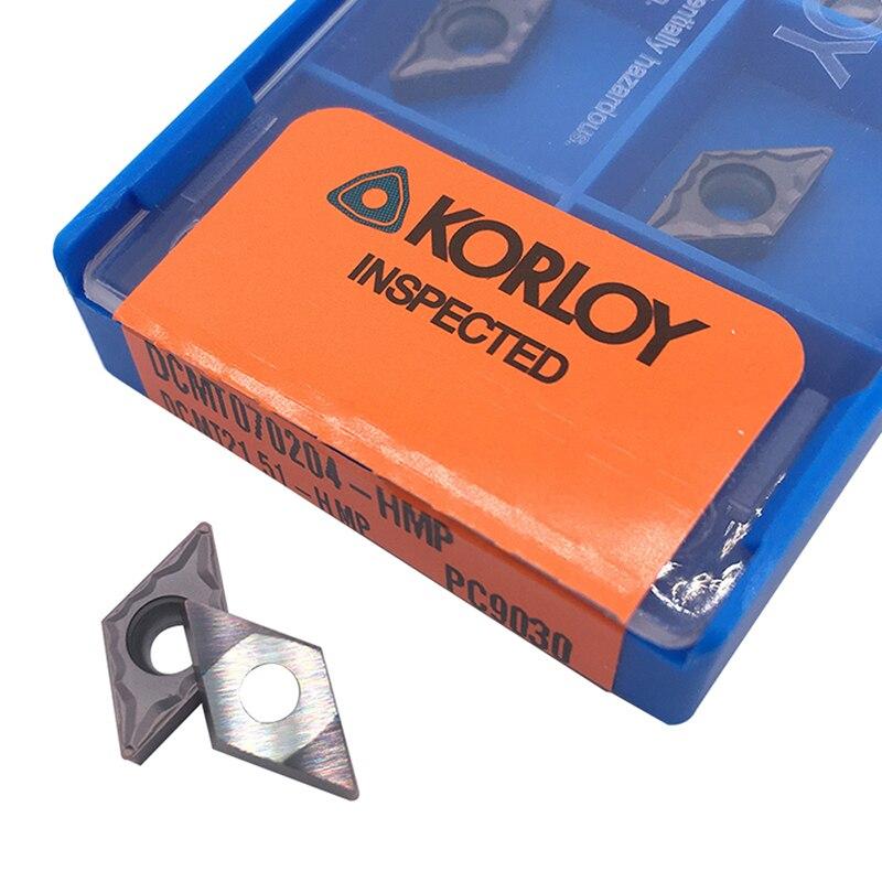 DCMT070204 HMP PC9030 10 шт. внутренний токарный инструмент DCMT 070204 карбидная вставка для токарного станка резак инструмент режущий инструмент CNC Tokarnyy