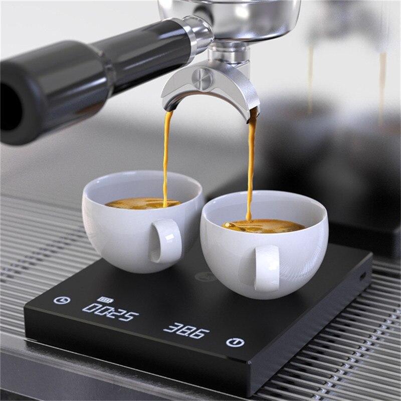 Timemore B22 النسخة الجديدة الأسود مرآة الأساسية مقياس القهوة موازين المطبخ مع توقيت السيارات لكلا إسبرسو وتصب على الرقمية