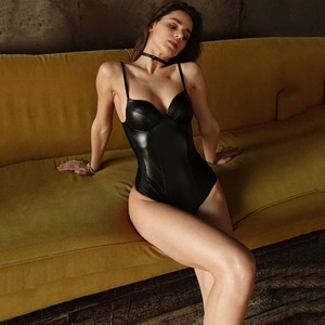 Oshoplive New Women Bodysuit Jumpsuit PU Stitching Sling Slim Sexy Lingerie for Women Erotic Women Solid Color Romper Women