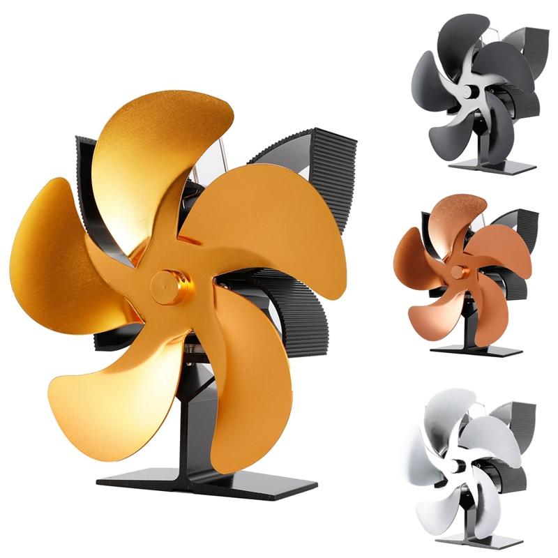 SF902S Thermal Power Fireplace Heater Five Blades Fireplace Heating Fan Safe Home Fireplace Fan Efficient Heat халат домашний five wien home five wien home mp002xw0f4sc