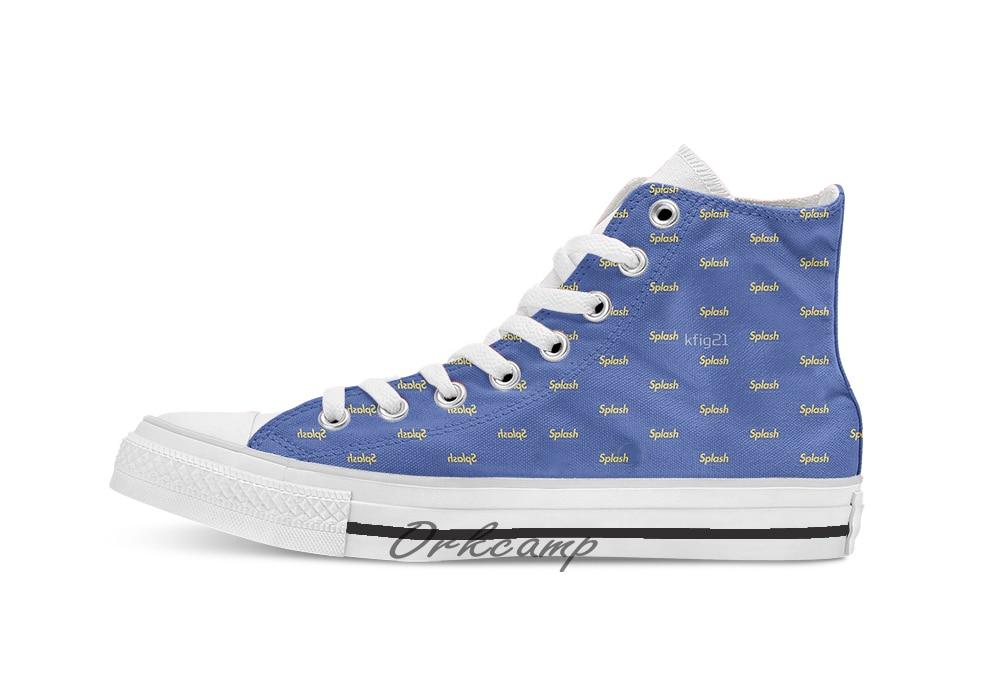 Splash Logo de caja Custom Casual High Top cordones zapatos de lona zapatillas Drop shipping