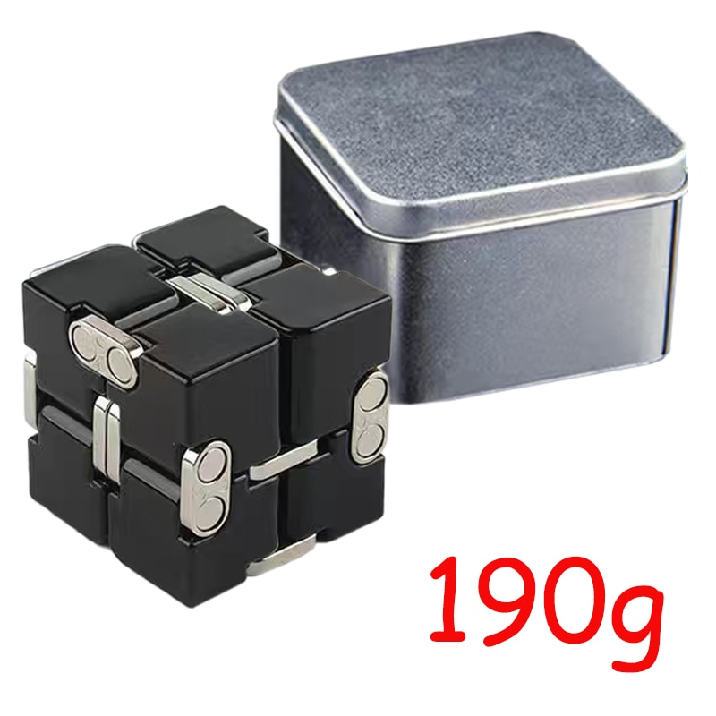 Infinity Cube Aluminium Cube Toys Premium Metal Deformation Magical Infinite Stress Relief Cube Stress Reliever for EDC Anxiety enlarge