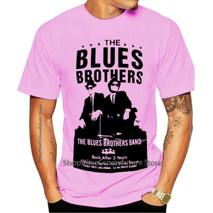 Camiseta O Blues Brothers Band Original Filme Cult 80 Camisa Oficial Branco 2021 Leisure Fashion T-shirt 100% Cotton