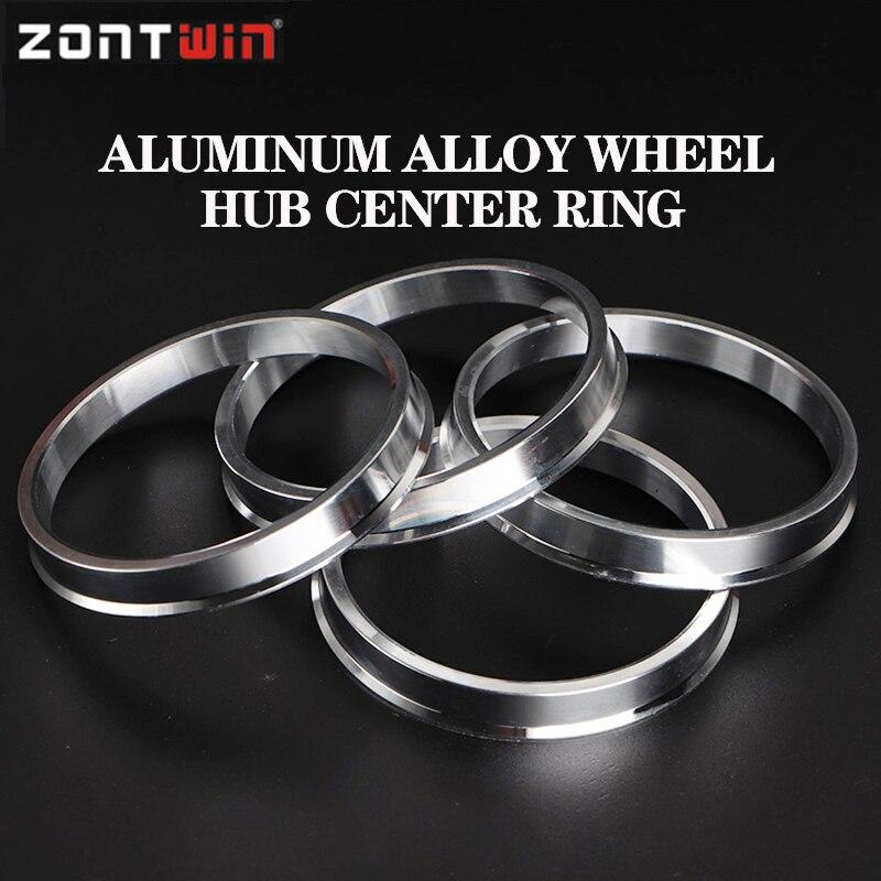 4 unids/lote 67,1 a 65,1 Hub anillos céntricos OD = 67,1mm ID = de aluminio de 65,1mm anillos de cubo de rueda envío gratis