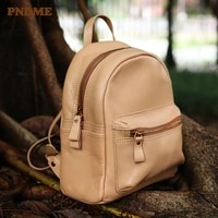 pndme fashion casual genuine leather ladies small backpack retro high quality natural real cowhide womens daily weekend bagpack
