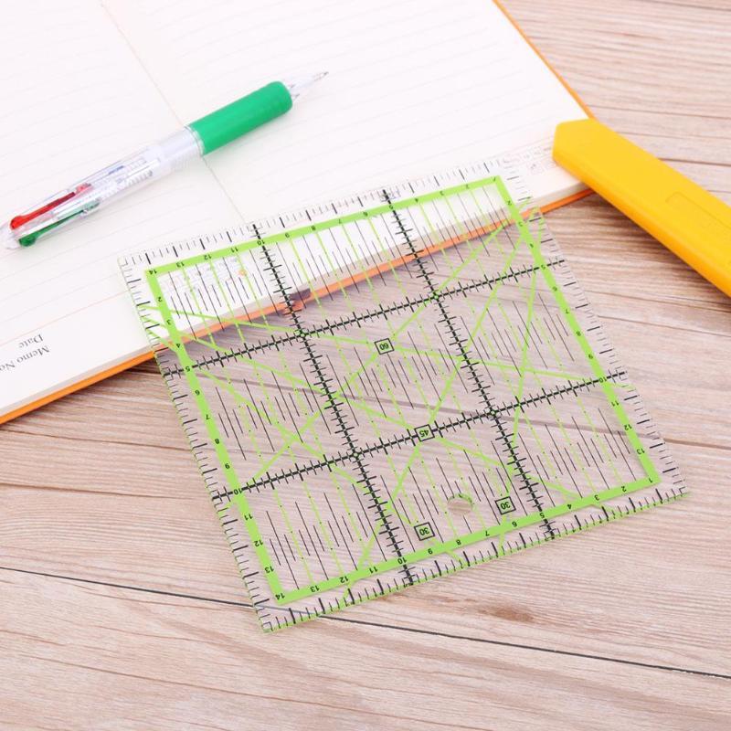 DIY costura empalme herramienta cuadrado empalme regla empalme costura regla costura 15*15cm medición dibujo y dibujar la herramienta de costura
