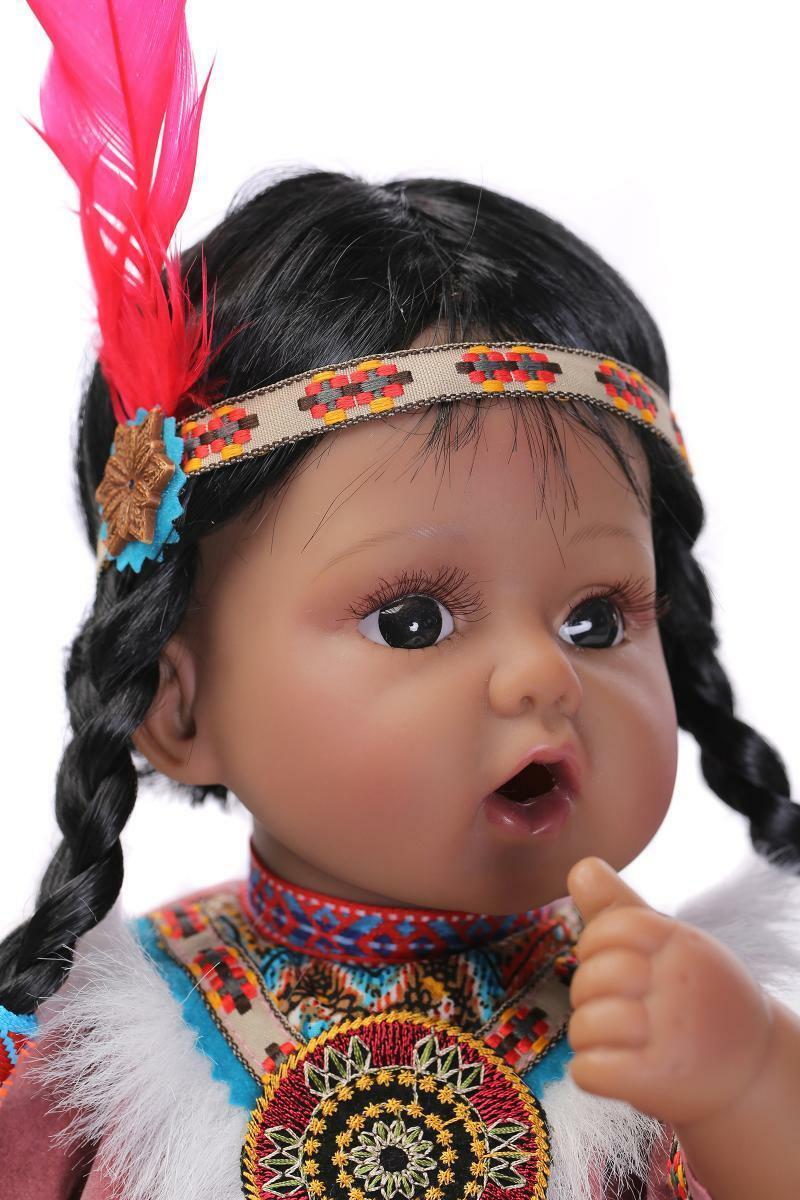 Muñeca Reborn de silicona suave de silicona de 20 pulgadas para bebé recién nacido juguete para regalo de bebé Reborn de silicona