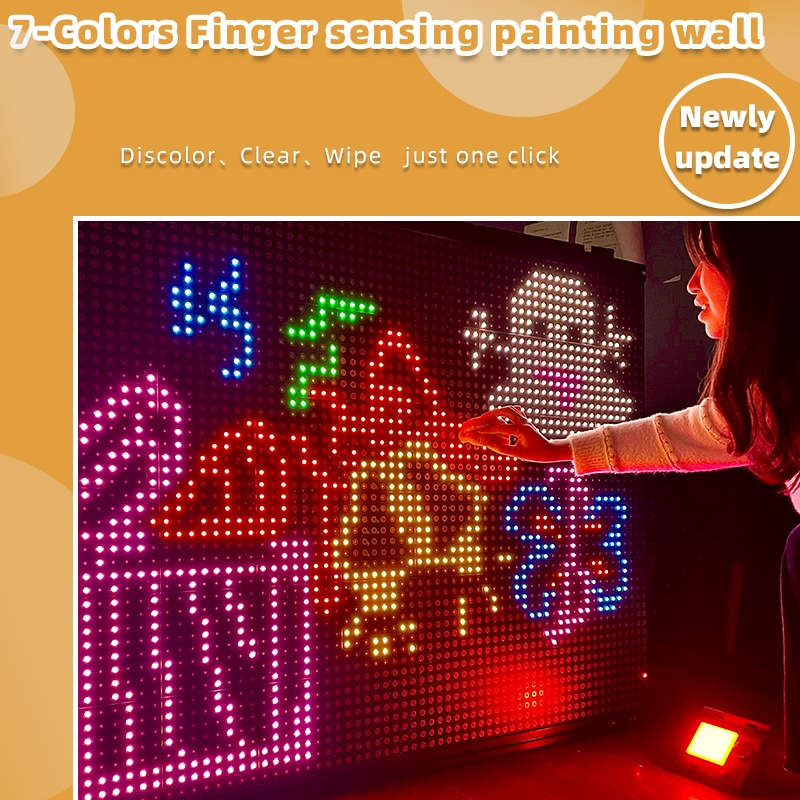 Interactive LED Wall Finger Graffiti Board Circuits Event warm-up Decoration Table of Bars Decoration