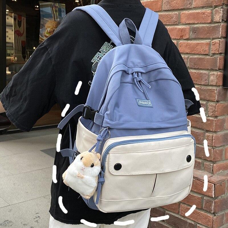 Милые школьные рюкзаки в стиле преппи, женские повседневные Простые ретро рюкзаки для студентов и пар, водонепроницаемый рюкзак