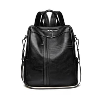 backpack womens dual use new fashion trendy womens leather all match fashion large capacity soft leather travel bag backpack