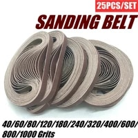 25pcs sanding belts 40 1000 grits sandpaper abrasive bands for belt sander abrasive tool wood soft metal polishing