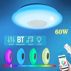 Smart LED Ceiling Light RGB Dimmable 60W APP bluetooth Control Music Modern Led Ceiling Lamp 220v Bedroom Lighting w/ Controller