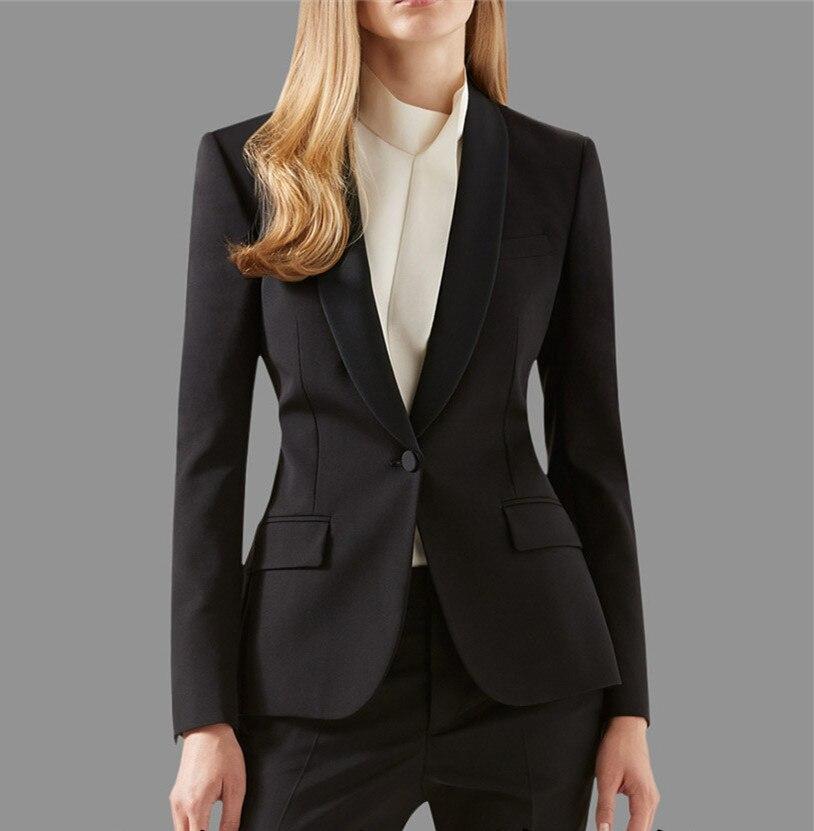 Oferta especial novo terno formal feminino para senhoras de escritório negócio feito sob encomenda profissional roupas de trabalho (jaqueta + calças)