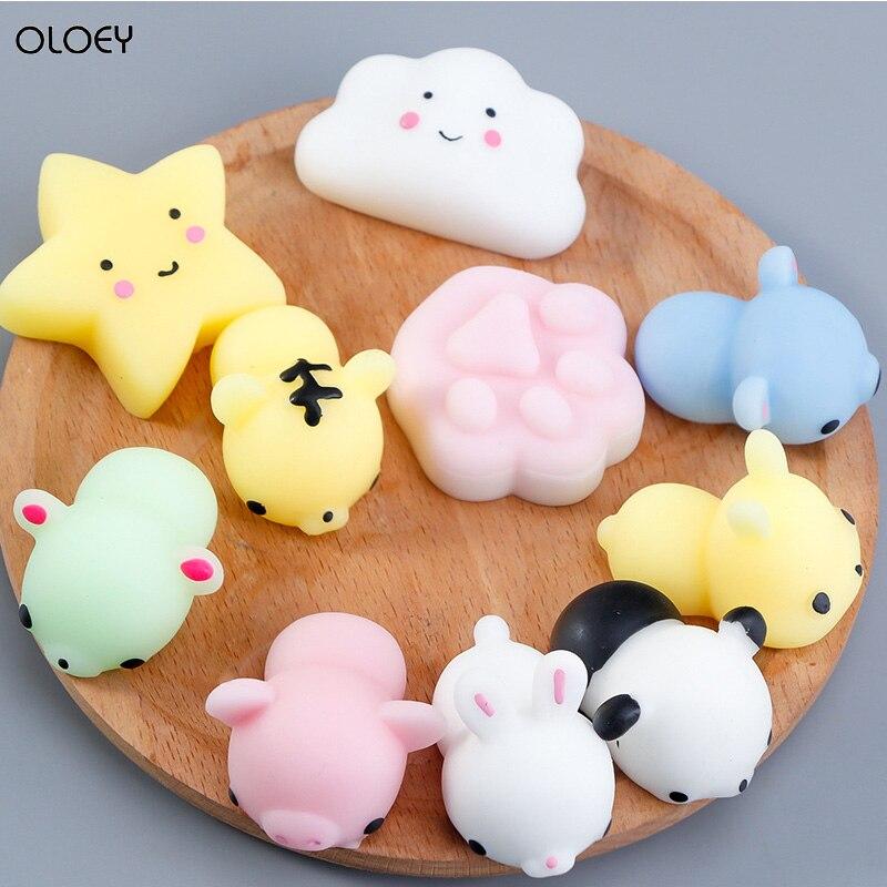 10PCS Kawaii Mochi  Animals Package  Squishy  Pop Cut Children's t Toy Fidget Figet Squishy Mochi Cute Things Toys Soft Toy It enlarge