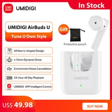 UMIDIGI AirBuds U TWS Wireless Earphones Bluetooth 5.1 ENC Noise Reduction 380mAh Charging Box Sport